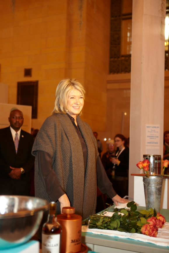 Martha Stewart at American Made event in Grand Central Station
