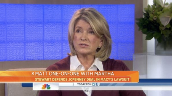 Martha Stewart is interviewed on The Today Show, March 6, 2013
